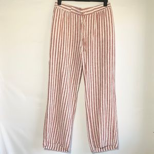 EUC old Navy red striped linen pants, xl